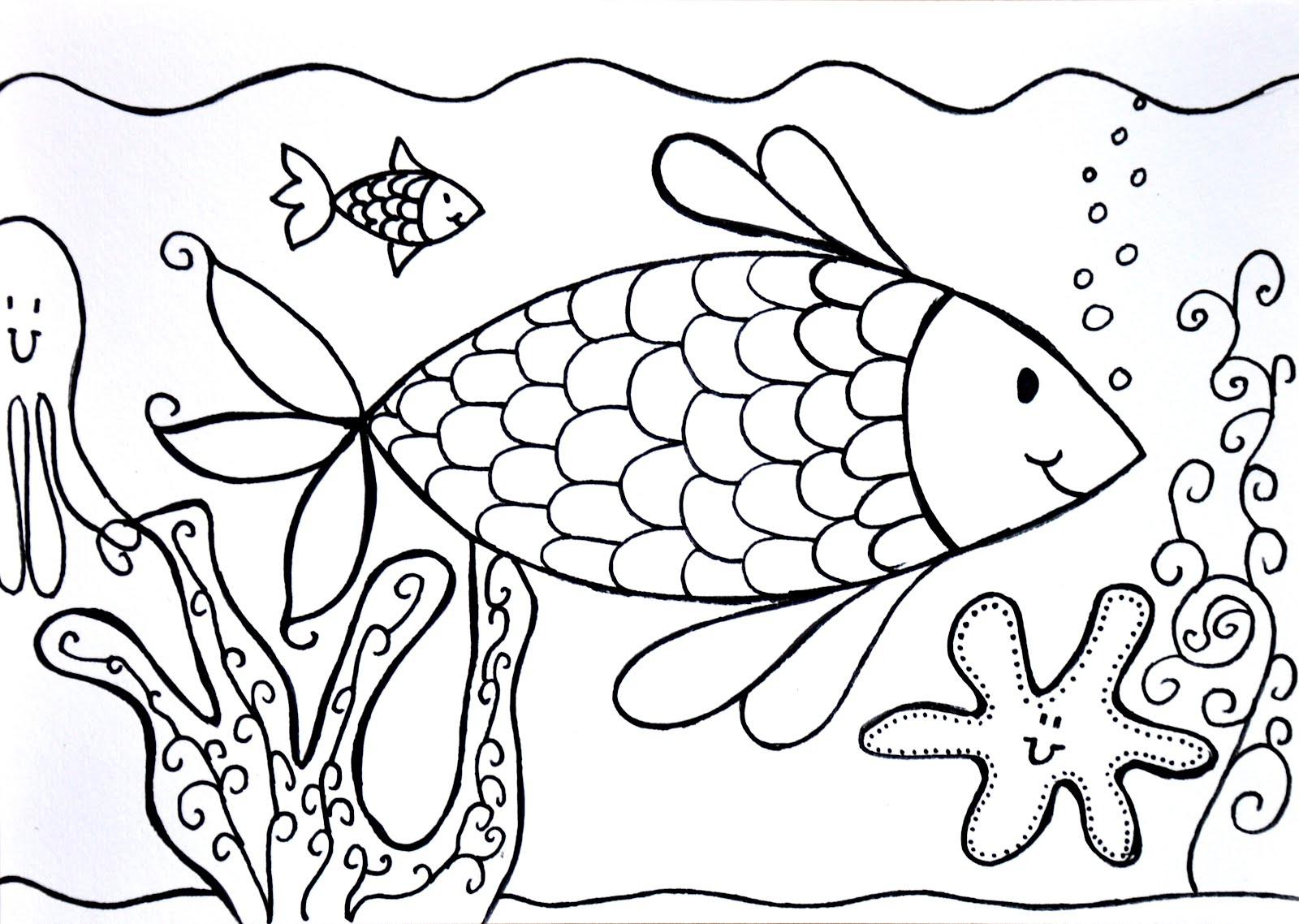 kleurplaten diep in de zee
