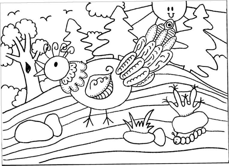 Hundertwasser ontmoet De Droomvallei: vogel