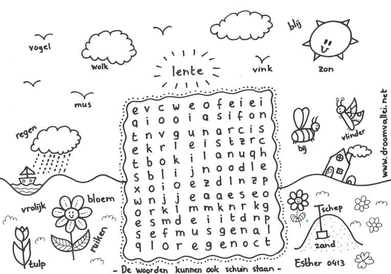 lente woordzoeker klein
