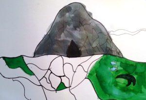 De zeebodem en de grot van de slang door mijn oudste zoon
