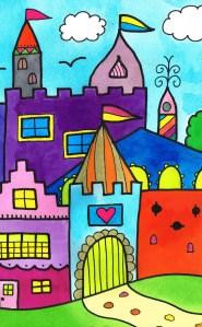 Deel van een nieuw schilderij van Esther