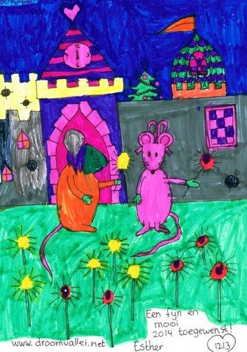 kleurplaat muizen 2 k