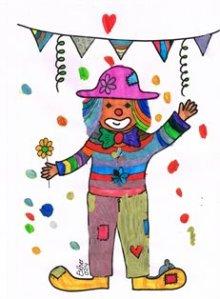 Droomvallei Clown gekleurd door Vasco