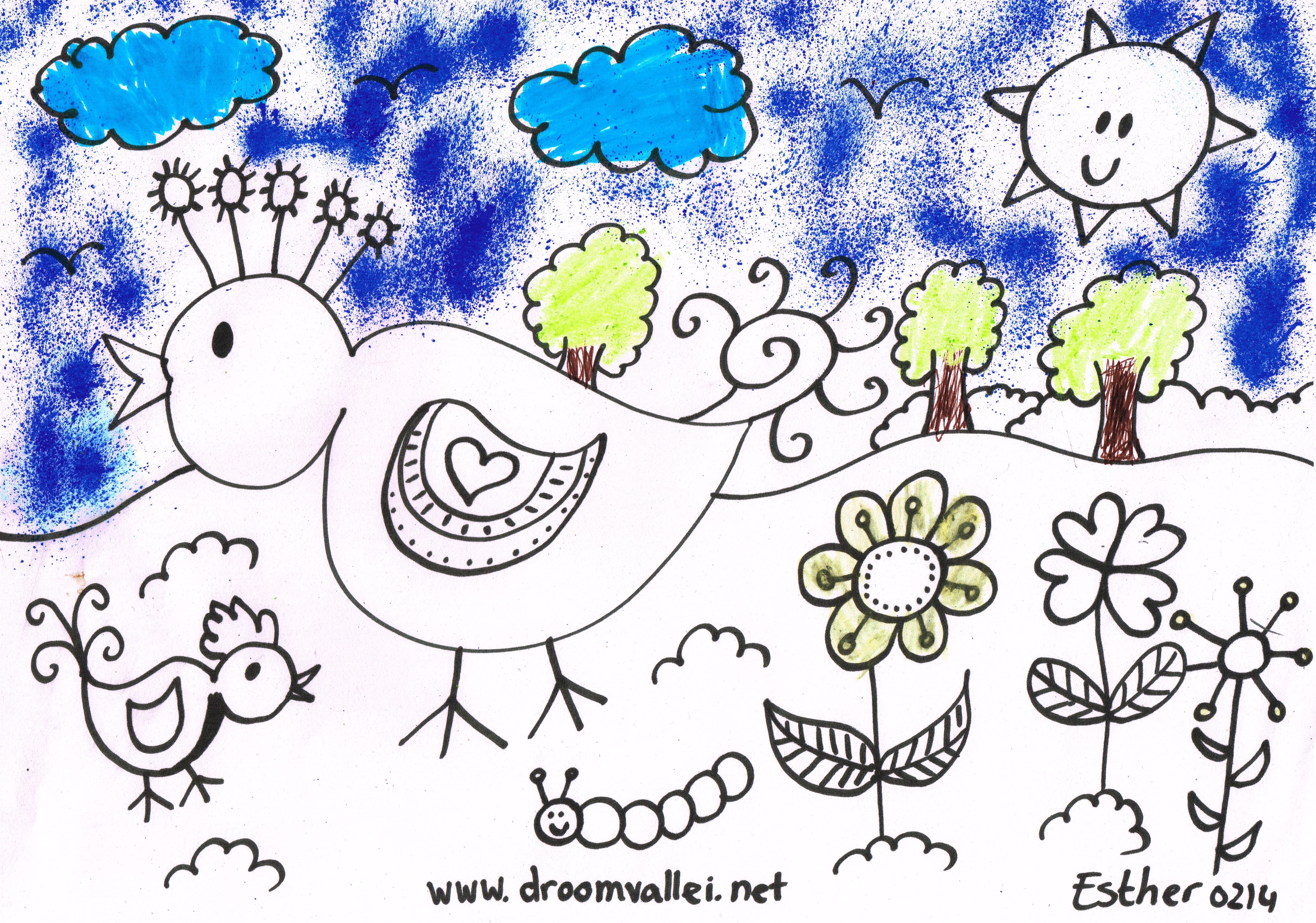 Kleurplaten Over Vogels.Kleurplaten De Droomvallei