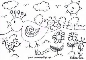 Droomvallei vogel kleurplaat