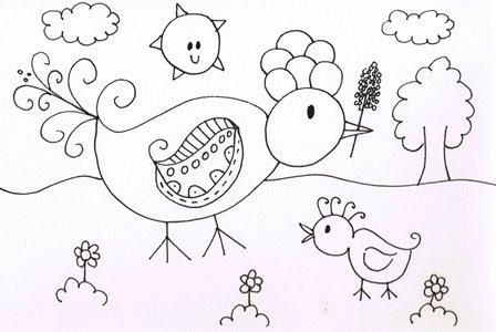 Kleurplaten Over Vogels.Kleurplaat Vogel In De Tuin Droomvallei Uitgeverij