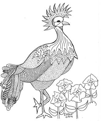 Een Vogel Kleurplaat Voor Gevorderden