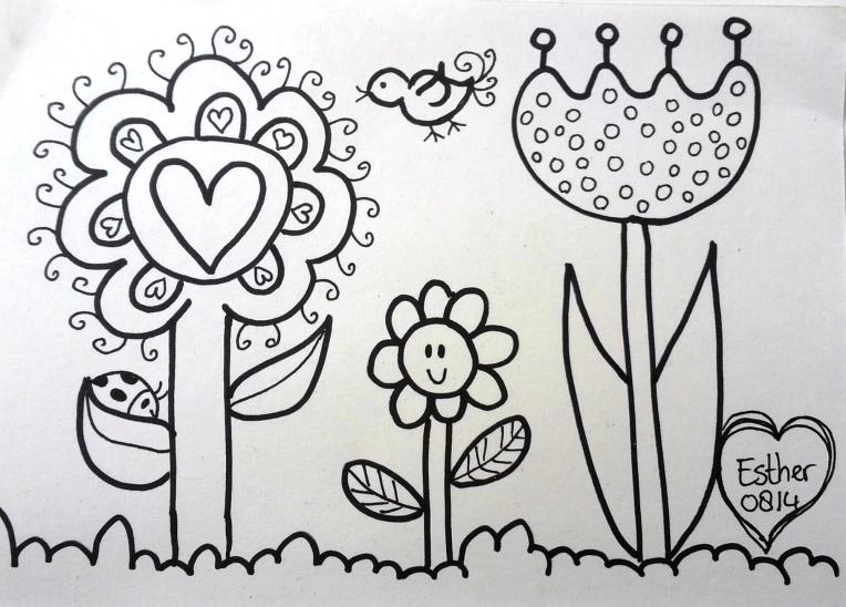 droomvallei bloemen kleurplaat