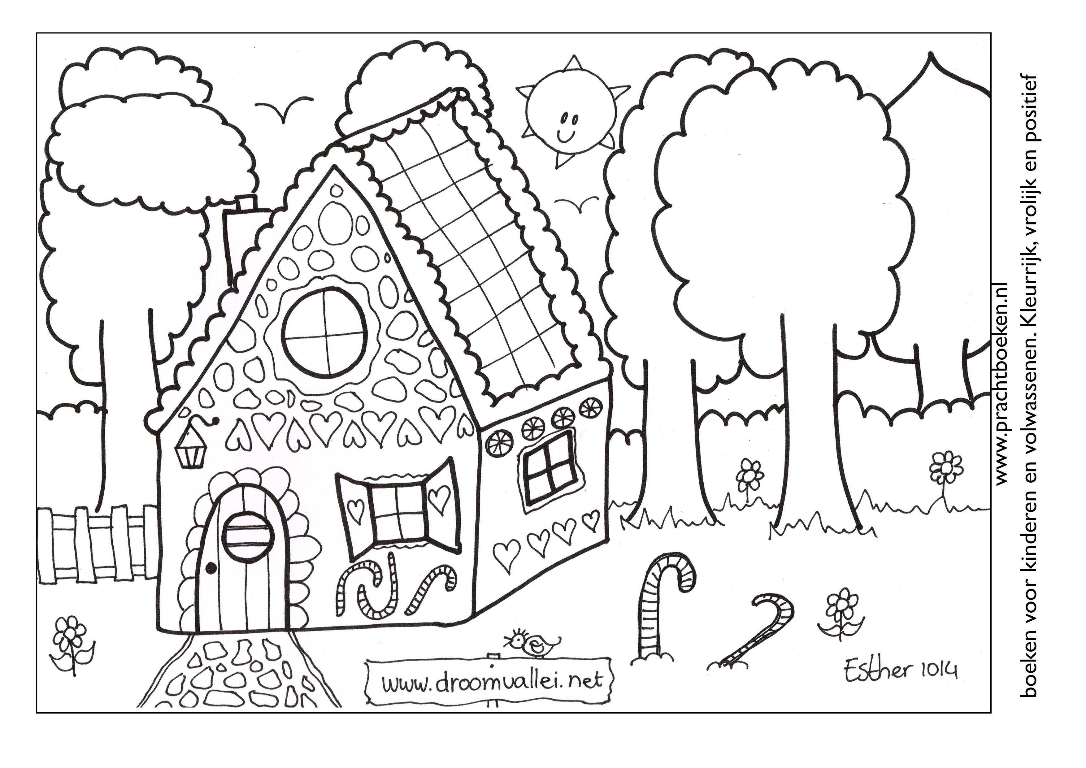 leuke huisjes kleurplaat